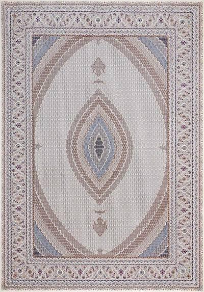 فرش سنتی ماشینی ۴۲۰۸ زمینه  کرم