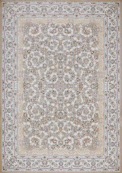 فرش ماشینی سنتی - شادمهر برجسته زمینه بژ