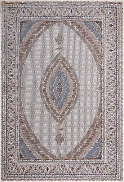 فرش ماشینی سنتی آریا برجسته زمینه سیلور