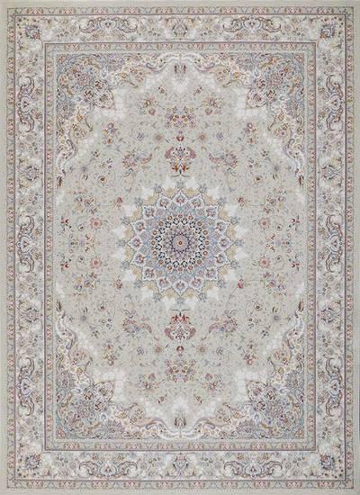 فرش ماشینی سنتی پرنیا زمینه  کرم