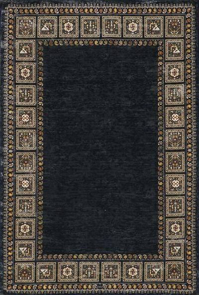 فرش ماشینی مدرن ۶۰۰۱۰۱ زمینه مشکی