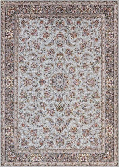 فرش ماشینی سنتی آذین برجسته زمینه سیلور