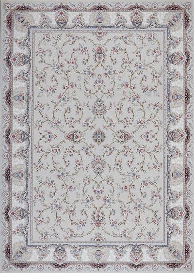 فرش ماشینی سنتی - النترا برجسته زمینه صدفی