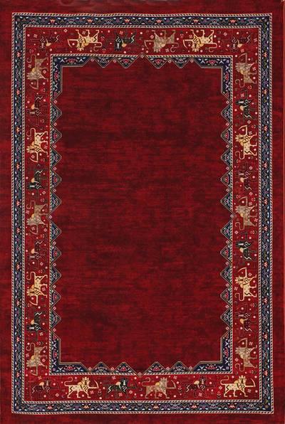 فرش ماشینی مدرن ۶۰۰۱۰۸ زمینه لاکی