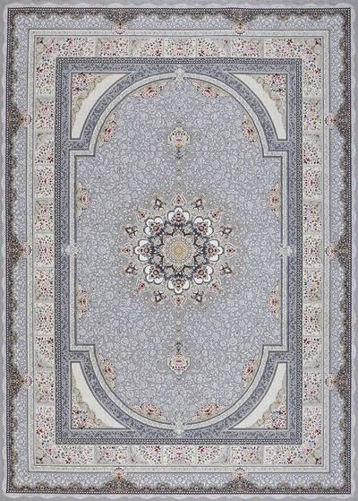 فرش ماشینی سنتی - بوستان برجسته زمینه دلفینی