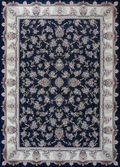 فرش ماشینی سنتی - النترا برجسته زمینه سرمه ای