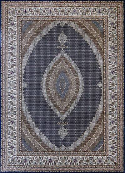 فرش ماشینی سنتی ۴۲۰۸  زمینه سرمه ای