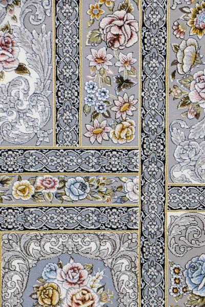 فرش ماشینی سنتی - خشتی برجسته
