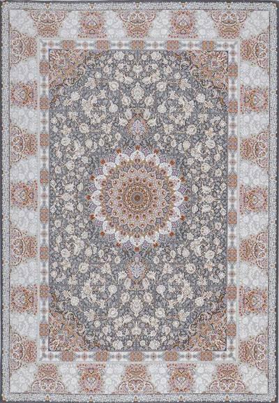 فرش ماشینی سنتی آتوسا زمینه دودی